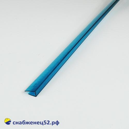 Профиль UР торцевой  6мм*2,1м бирюзовый