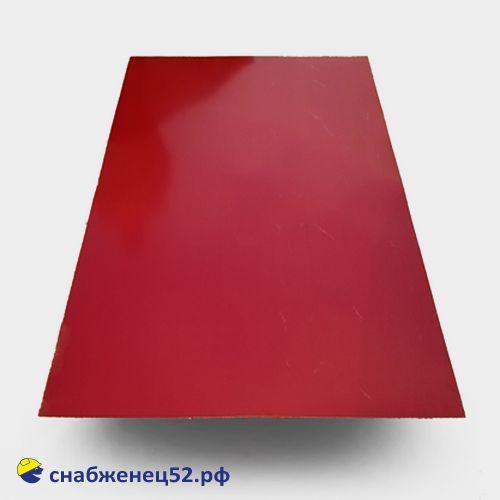 Лист окрашенный 0,35мм RAL3005 (красный) 1250*2000мм