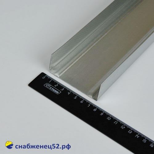 Профиль (оцин.) направляющий ПН  75*40 (3м)