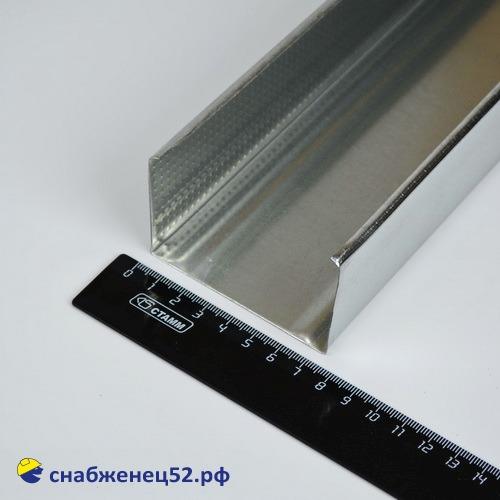 Профиль (оцин.) стоечный ПС  75*50 (3м)