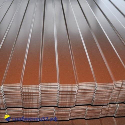 Профнастил С-8 0,35мм (2м) (шир.1.2м), RAL 8017 шоколад, Grand Line