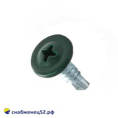 Саморез мет-мет прессшайба (RAL 6005 зелёный) 4,2*16 сверло
