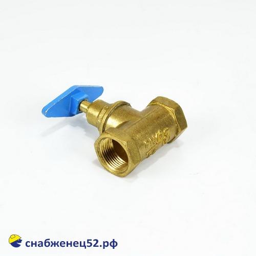 Вентиль латунный для трубы ВГП ду 20 (15Б3р)