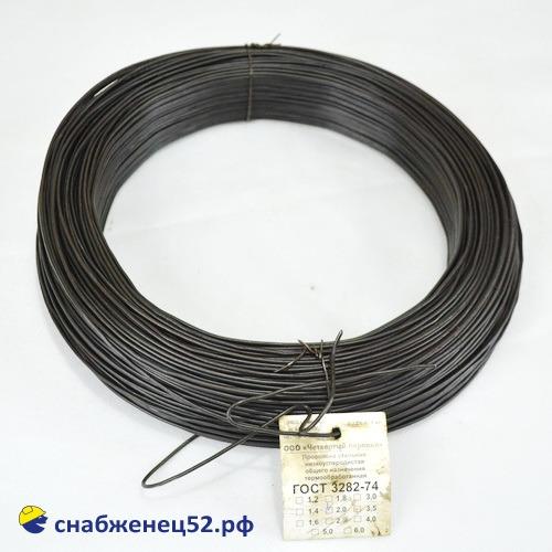 Проволока 2 мм (5кг), низкоуглерод. сталь, т/о