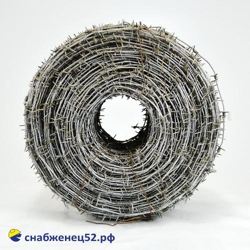 Проволока колючая оцинкованная Ф2,8 мм (35 кг, 200 метров)