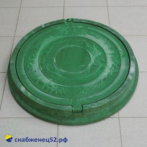 Люк полимерпесчанный тип Л (легкий), 3т, зеленый