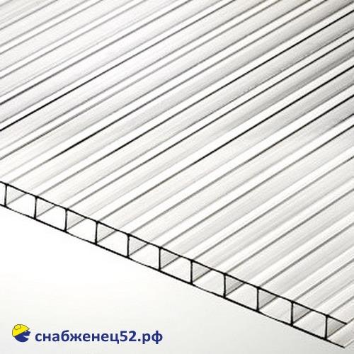 Поликарбонат  4мм прозрачный (0,57кг/м2)