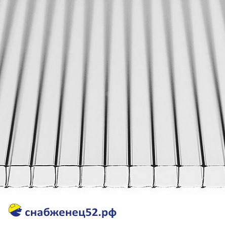 Поликарбонат  6мм прозрачный 2,1м*12м (0,9кг/м2)