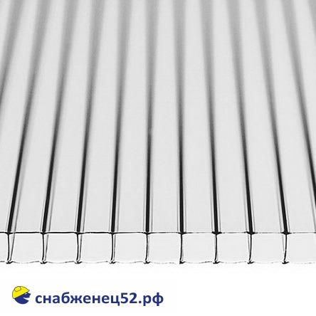 Поликарбонат  6мм прозрачный (ш.2,1м), п.м.
