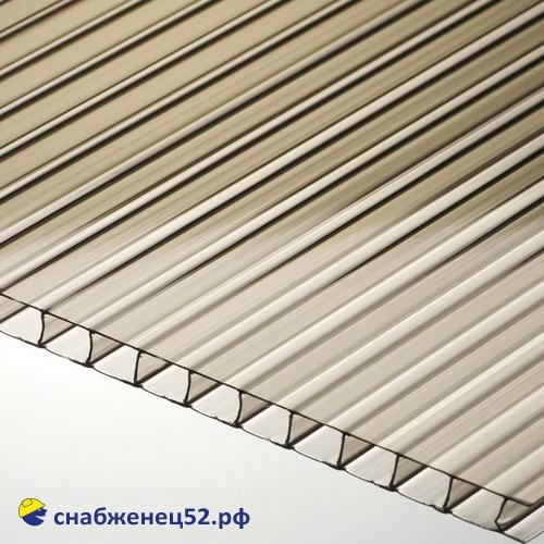 Поликарбонат  6мм бронзовый (ш.2,1м), п.м.