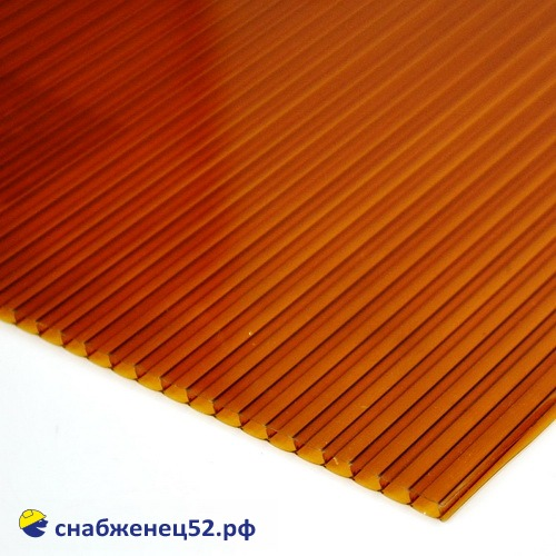 Поликарбонат  4мм коричневый (ш.2,1м), п.м.