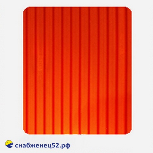Поликарбонат  4мм красный 2,1м*12м (0,62кг/м2)