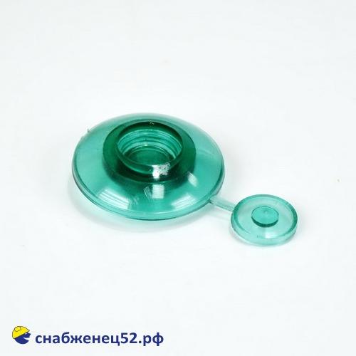 Термошайба 4мм зелёный