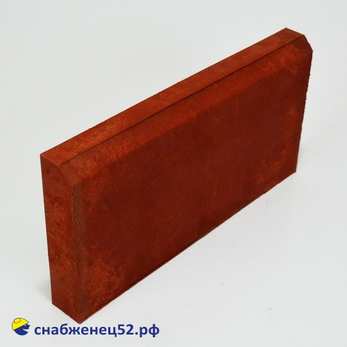 Бордюр полимерпесчаный 500*250*50 красный
