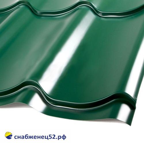 Металлочерепица классик 0,4мм (1183*1200) зелёный RAL 6005