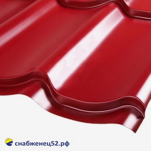 Металлочерепица классик 0,4мм (1183*1200) красный RAL 3005