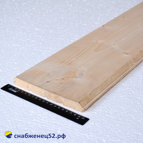 Хвоя имитация бруса сорт АВ 21х191(185)х6000мм