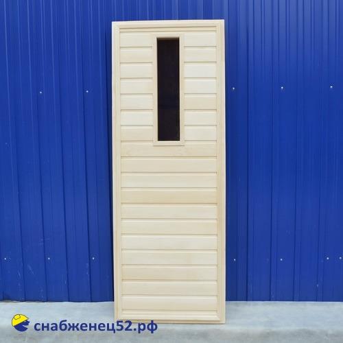 Липа дверь банная со стеклом 1800*700 мм