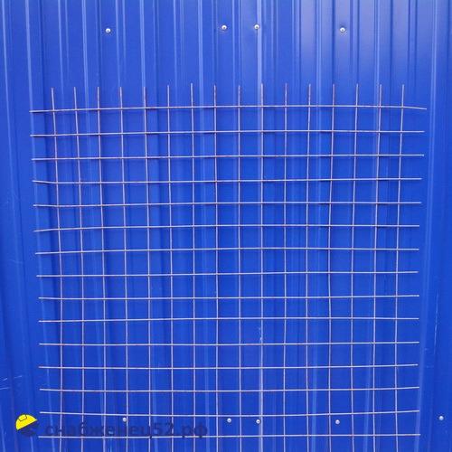 Сетка сварная неоц. (карта) ячейка  50*50мм (1*2м),  d 4 (факт 3,5мм)