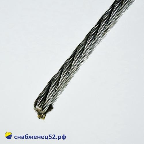 Трос стальной оцинкованный М6 DIN3055 (1п.м)
