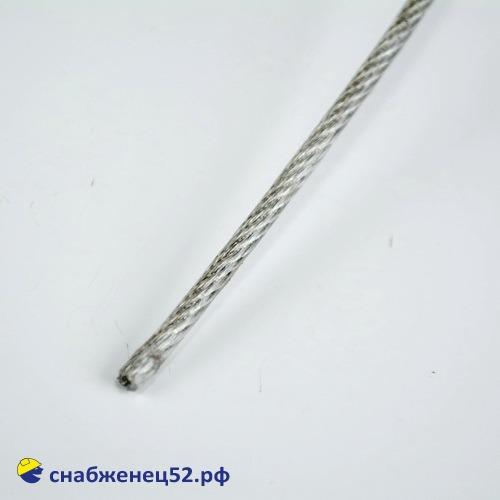 Трос стальной оцинк. в оплетке ПВХ 2/3 (1п.м.)