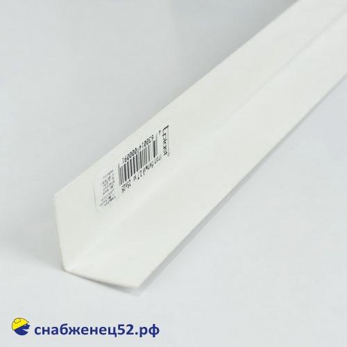 Уголок отделочный из ПВХ 25*25мм в защитной пленке, (3м)