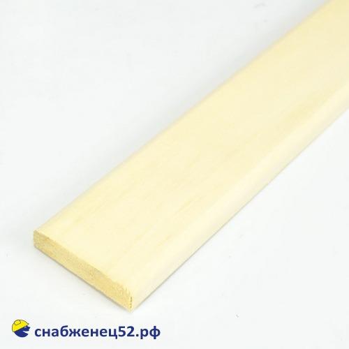 Липа наличник (полуполок) сорт А 15*60*2600 мм