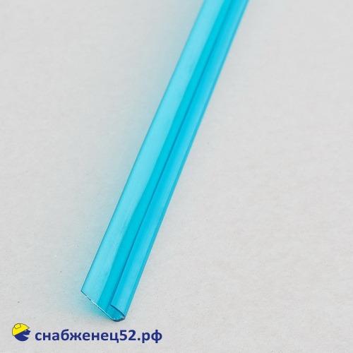Профиль UР торцевой  4мм*2,1м бирюзовый