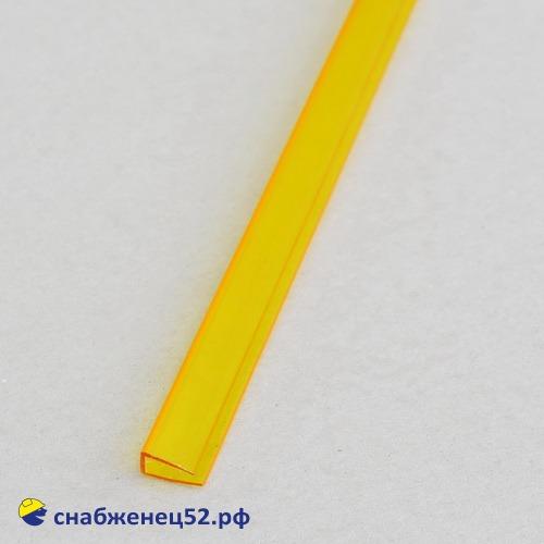 Профиль UР торцевой  4мм*2,1м желтый