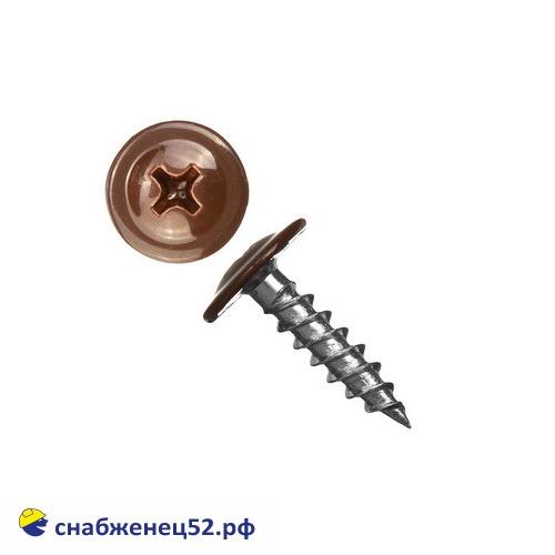 Саморез мет-мет прессшайба (RAL 8017 коричневый) 4,2*16 острие