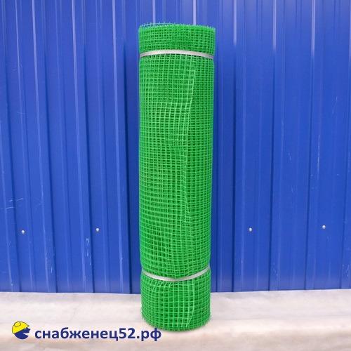 Сетка пластиковая, ячейка квадрат 15*15, зеленая, (1*20м) (п.м)