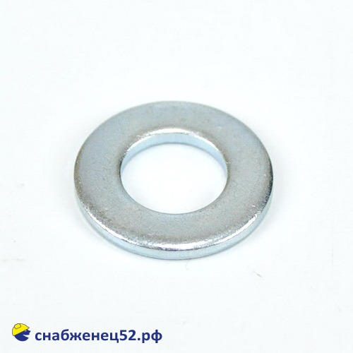 Шайба плоская 10мм (DIN125 Zn)