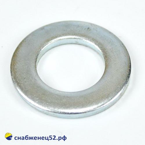 Шайба плоская 18мм (DIN125 Zn)