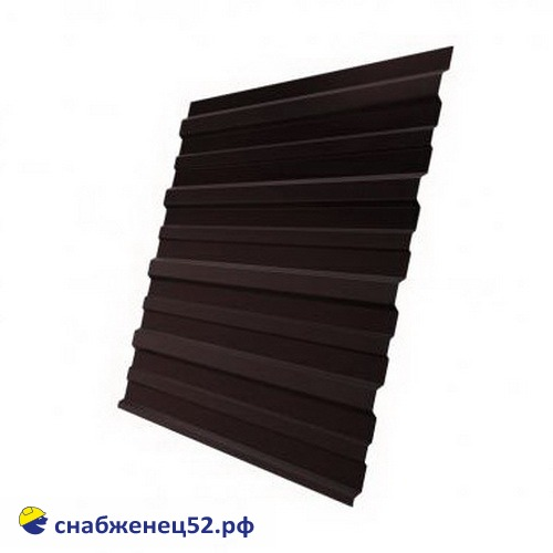 Профнастил С-10 0,35мм (2.0м) (шир.1.18м), RAL 8017 шоколад,Grand Line