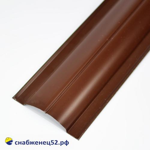 Штакетник круглый 0,45мм (1,2м*0,128м) RAL 8017 шок.-коричневый , GL