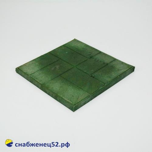 Плитка полимерпесчаная тротуарная 330*330*25мм зелёная