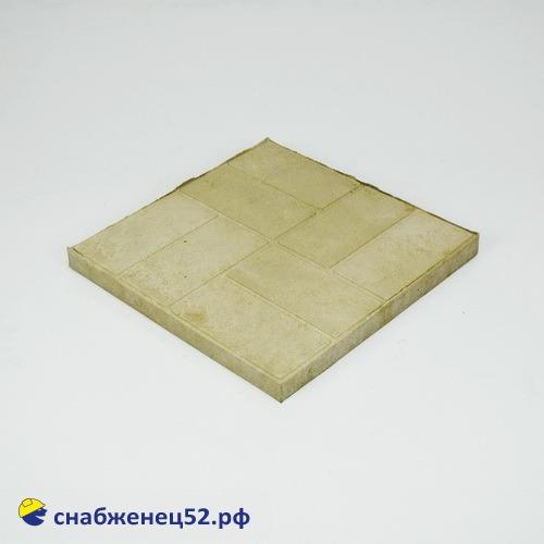 Плитка полимерпесчаная тротуарная 330*330*25мм серая