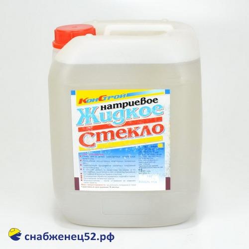 Жидкое стекло натриевое (15кг)