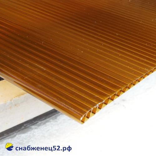 Поликарбонат  8мм коричневый (ш.2,1м), п.м.