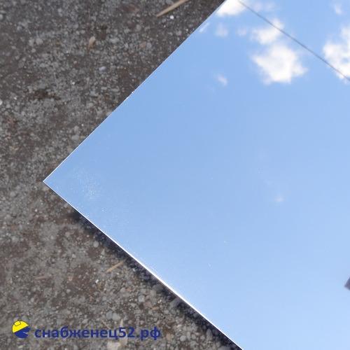 Лист нержавеющий (AISI 430) 0,5мм (шир. 1м) (п.м.), зеркало