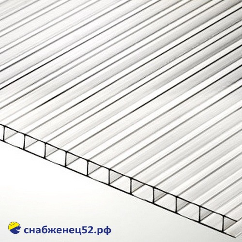 Поликарбонат  4мм прозрачный (0,7кг/м2)