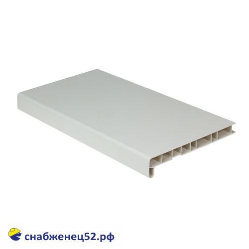 Подоконник ПВХ белый 250мм (пог.метр)