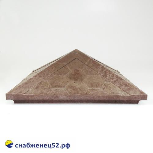 Колпак на столб полимерпесчаный 440*440*160мм (коричневый)