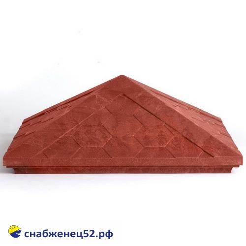 Колпак на столб полимерпесчаный 440*440*160мм (красный)