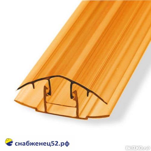Профиль НСР 6-10мм*6м  соединительный коричневый