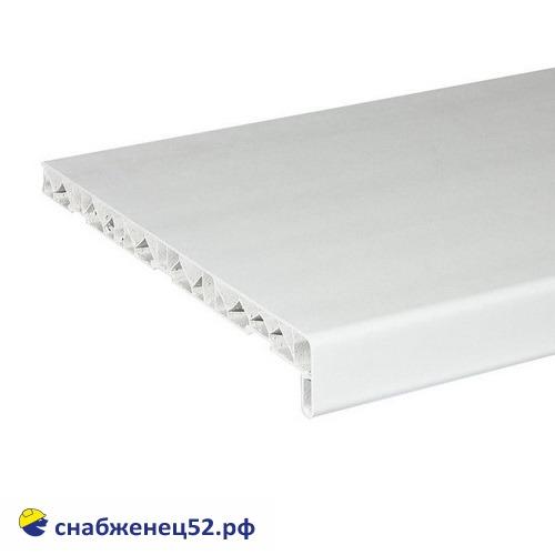 Подоконник ПВХ белый 400мм (пог.метр)