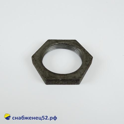Контргайка стальная для трубы ВГП ду 40