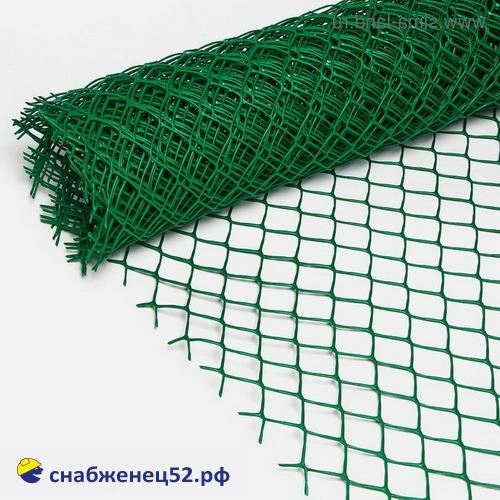 Сетка пластиковая, ячейка ромб 32*35, зеленая (2*20м) (п.м.)