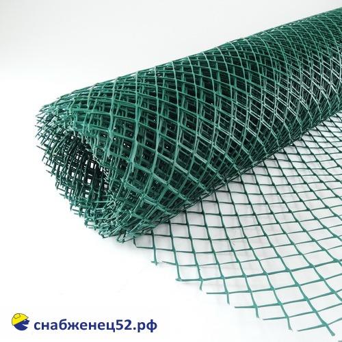 Сетка пластиковая, ячейка ромб 25*28, зеленая (1,6*20м) (п.м.)