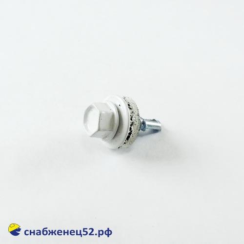 Саморез кровельный RAL 9003 белый (металл) 5,5*19